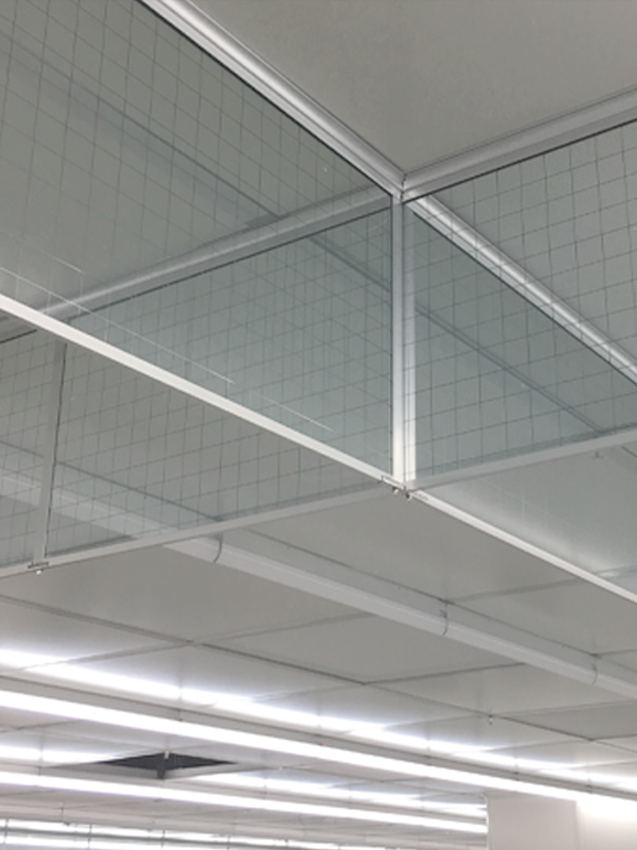 新恒邦固定式刚性挡烟垂壁(夹丝玻璃)