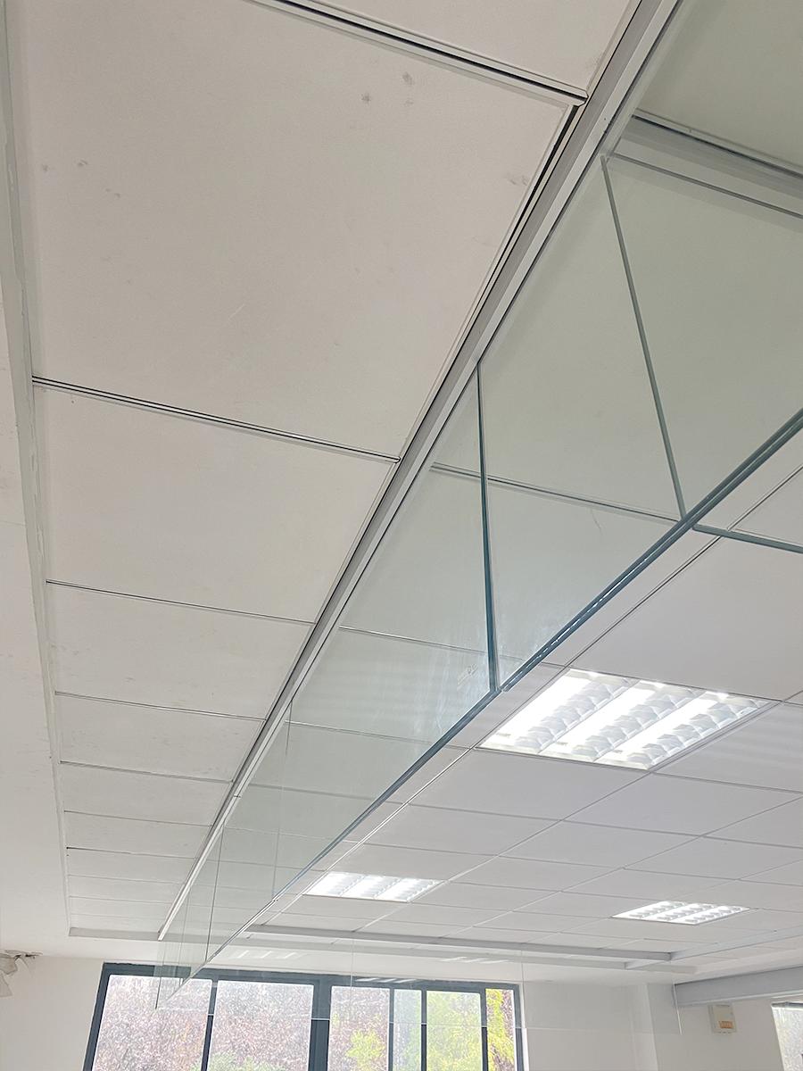 固定式玻璃挡烟垂壁(半框)