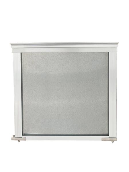 固定钢板式挡烟垂壁(铝合金边框)