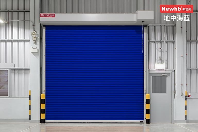 地中海蓝钢质卷帘门
