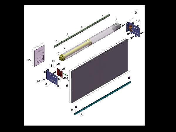 电动挡烟垂壁组装图